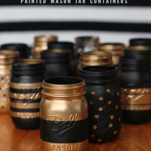 DIY_spray_painted_mason_jars
