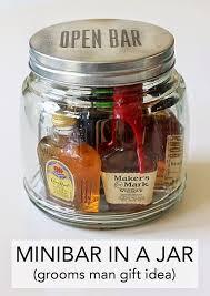 mini bar in a jar