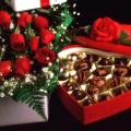 flowers and choc